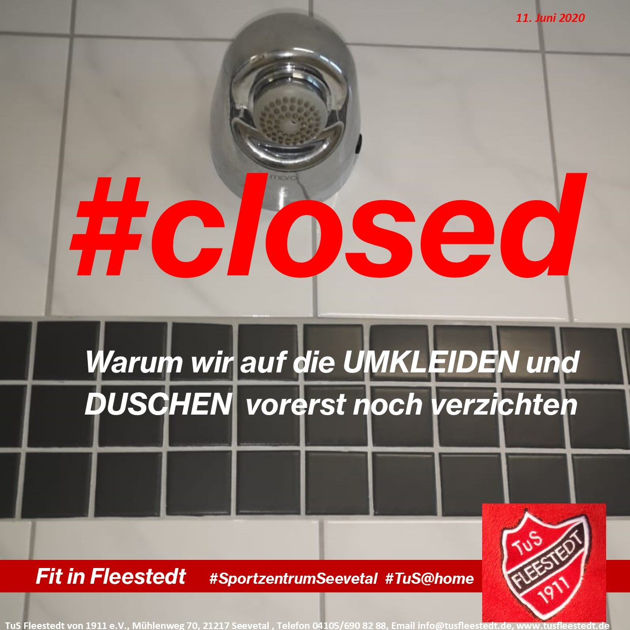 Cover Duschen closed